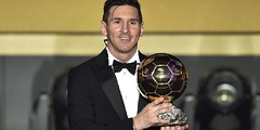 Lionel Messi from Argentina wins 2016 FIFA Ballon d'Or award