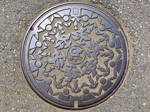 Osawano Toyama, manhole cover (富山県大沢野町のマンホール)