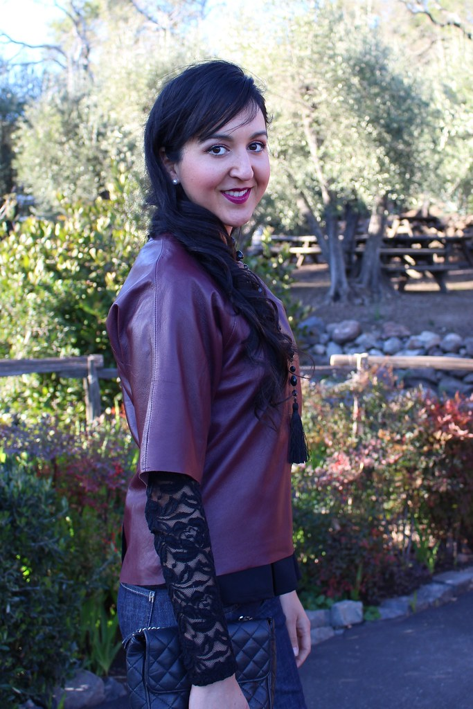 Layering with Peplum and Leather 2