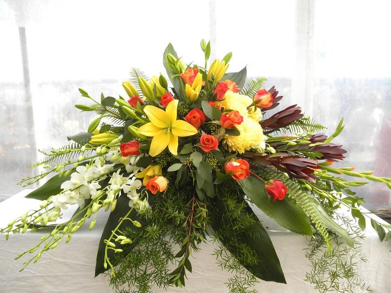 Orange Wildflower Bouquet