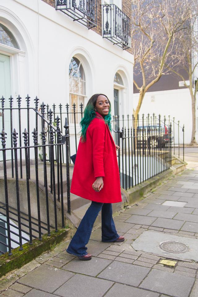 Red Warehouse coat