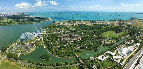 Ausblick von der Bar des Marina Bay Sands