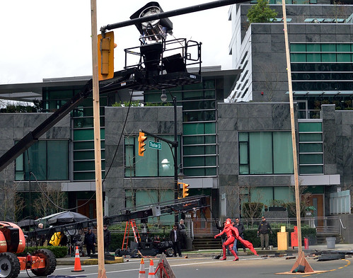 filming Powerless, downtown Vancouver