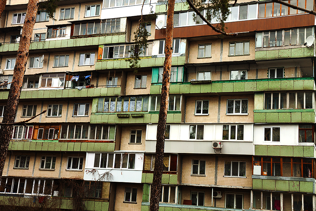 High rise in Svyatoshyns'kyi District--Kiev 2