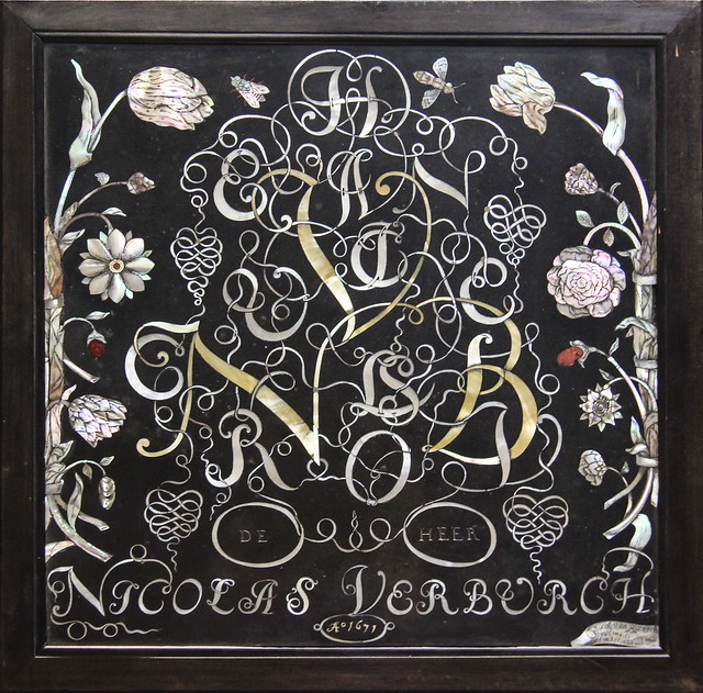 Inlaid panel, Amsterdam, 1671