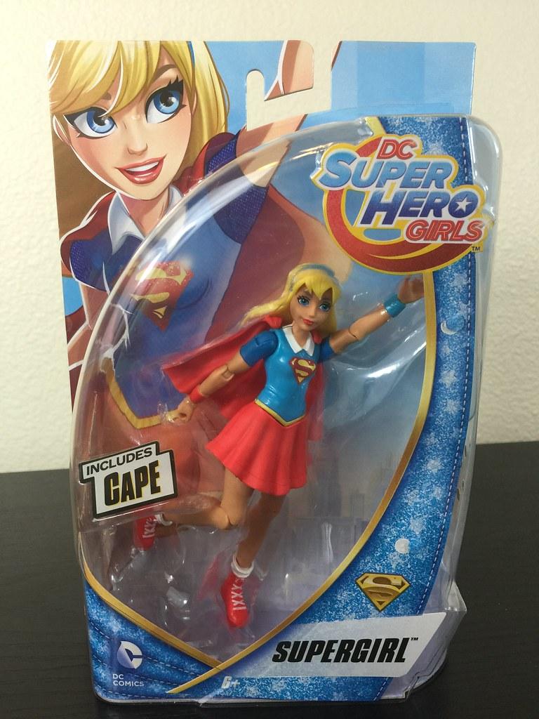 "DC Super Hero Girls SUPERGIRL 6/"" Action Figure NEW 2016 Mattel DC Comic w// Cape"