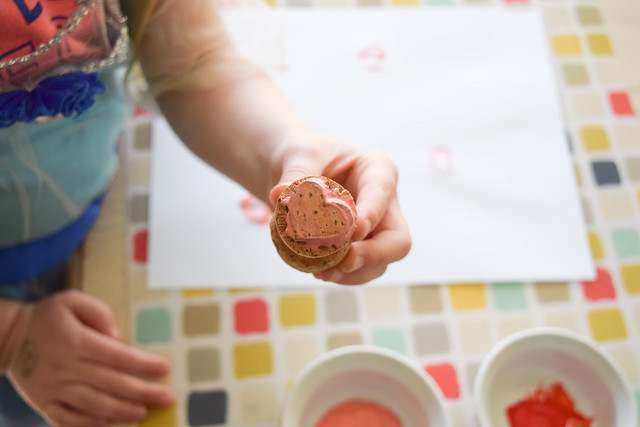 recent craftiness: hand-carved cork stamp   yourwishcake.com