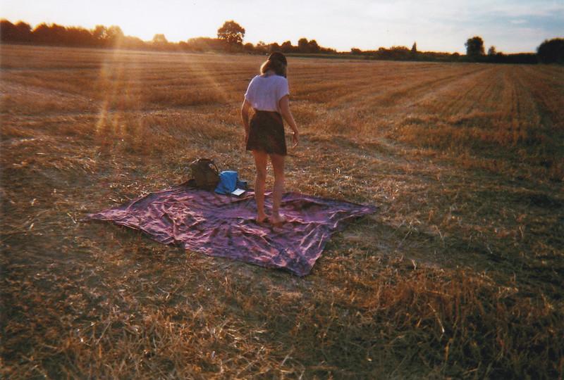Analog Sonnenuntergang Picknick