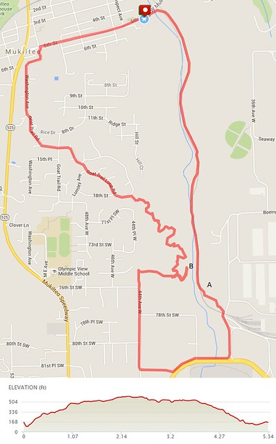 Today's awesome walk, 5.34 miles in 1:51, 11,479 steps, 508ft gain