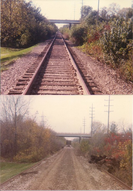 Tom Burke Photos Lombard IL C&NW (ex-CGW) East of Rt. 53 September & October 1985