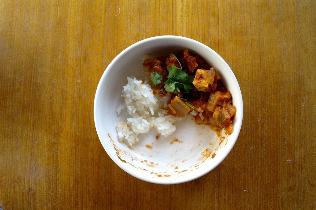 kadai paneer with rice
