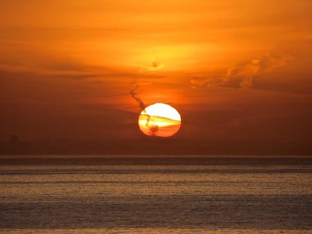 contrail sunrise