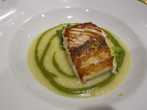 Amberjack on Potato Puree