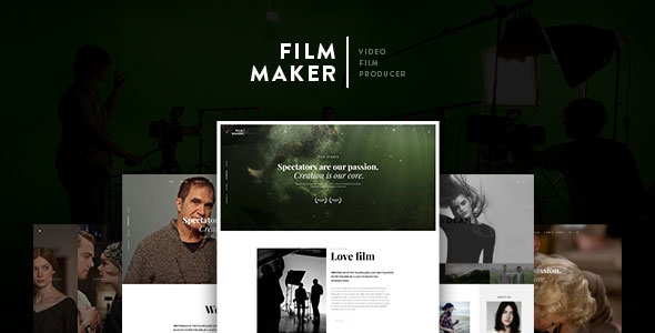 FilmMaker v1.0 WordPress Theme Film Studio - Movie Production - Video Blogger