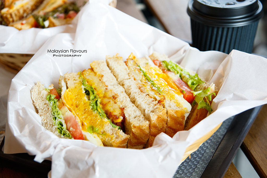 A.Toast Breakfast & Juice Bar Pudu KL wholemeal toast sandwich