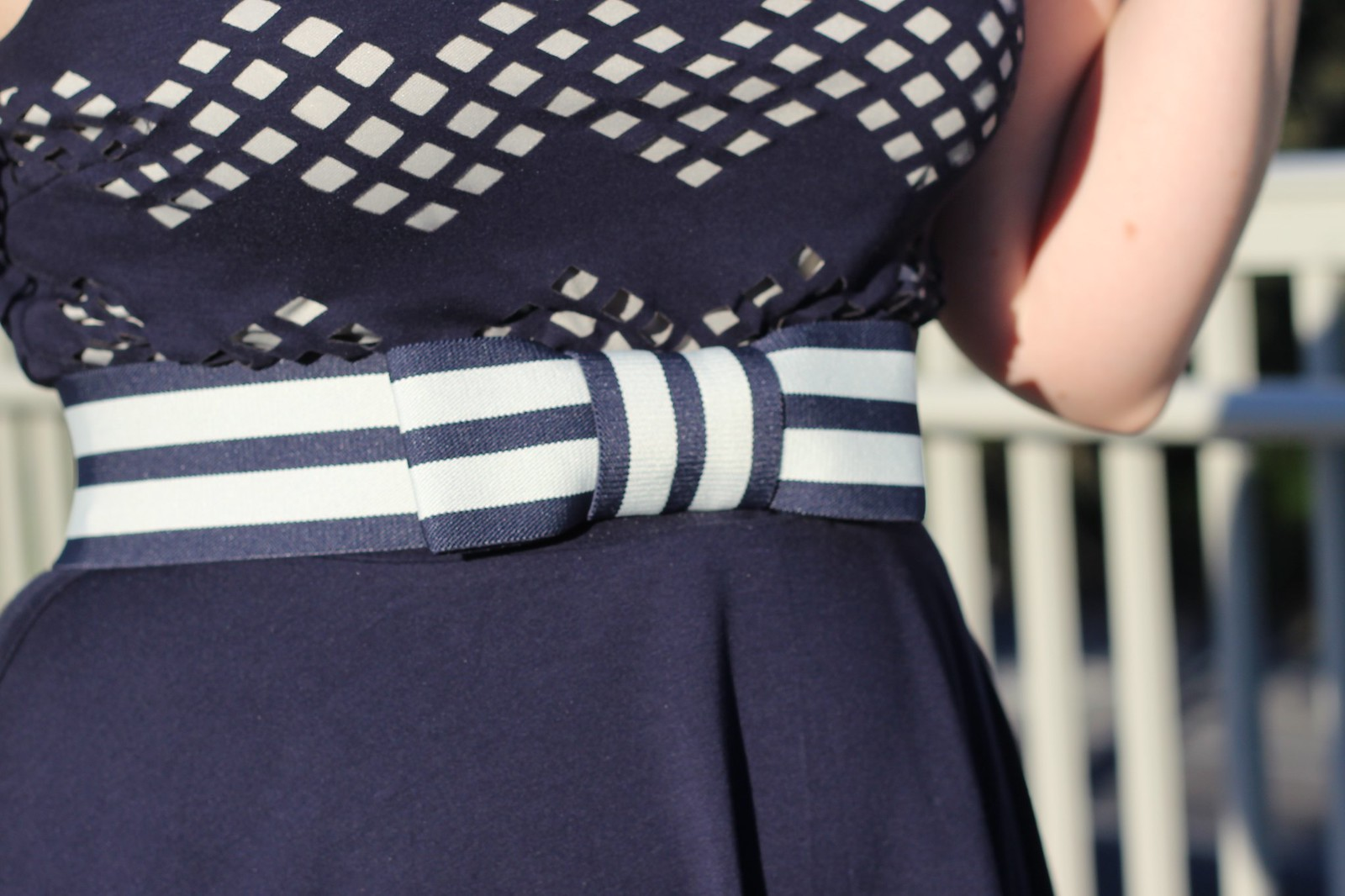 Kate Spade Striped Bow Belt