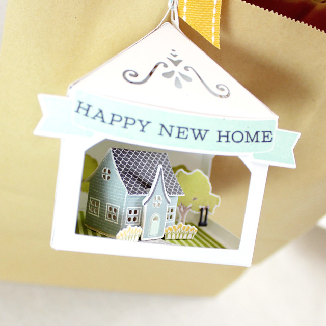 Petite Places Happy New Home 3D Tag House Close Up