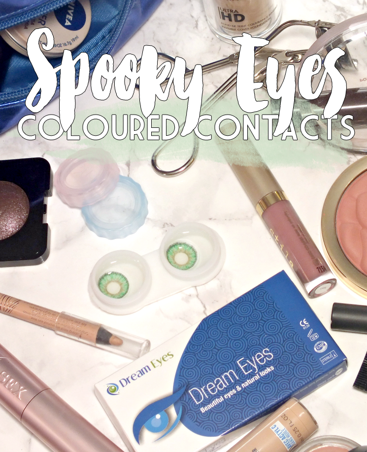Spooky Eyes Dream Eyes Coloured Contacts Natural Green Floral (6)