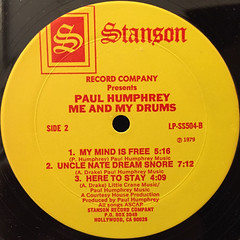 PAUL HUMPHREY:ME AND MY DRUMS(LABEL SIDE-B)
