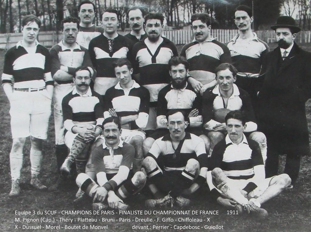 Equipe 3 du SCUF - champion de Paris 1911, Finaliste du Championnat de France