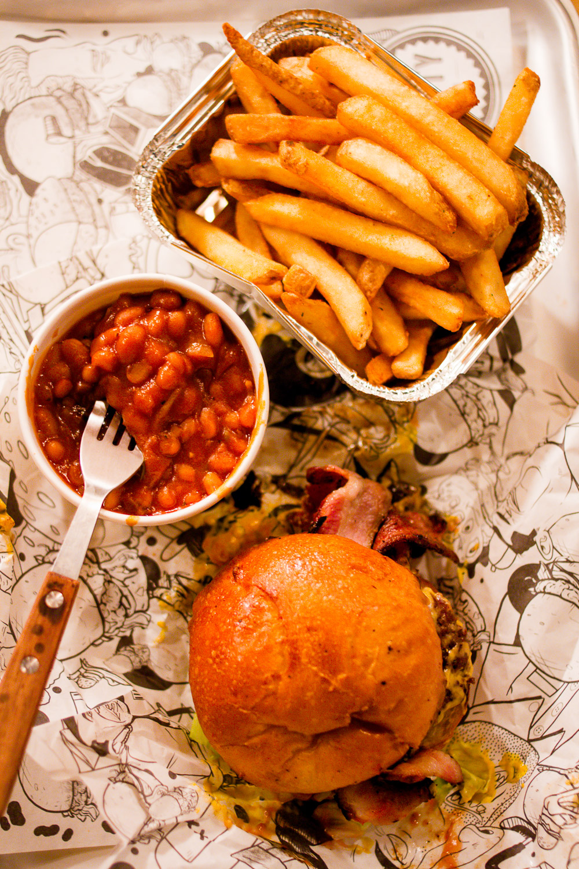 original Patty Men Birmingham best burgers beans chips tray