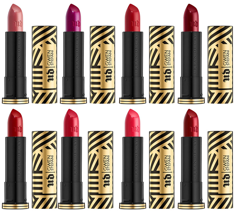 Urban Decay x Gwen Stefani Lipsticks for Spring 2016