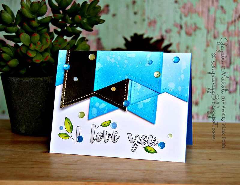 Blue I love card