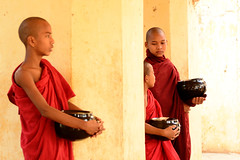 young monks in Bagan, Burma