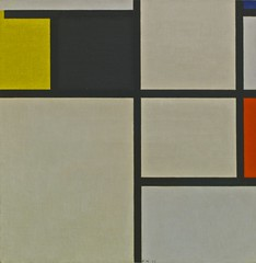 Tableau with Yellow, Black, Blue and Grey (1923) - Piet Mondrian (1872 - 1944)