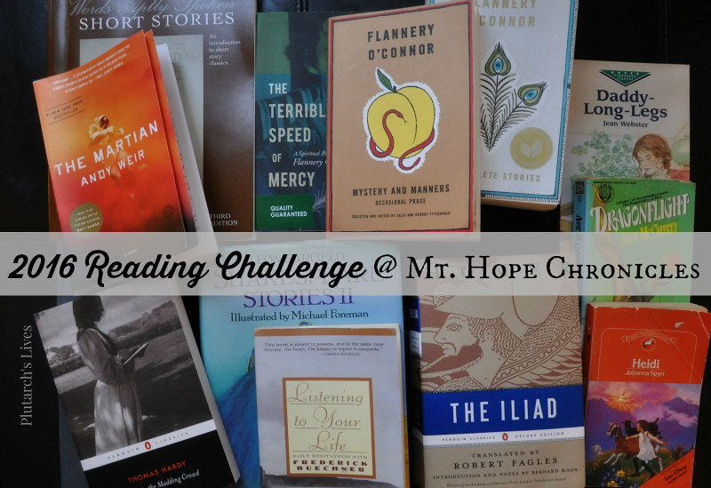 2016 Reading Challenge @ Mt. Hope Chronicles