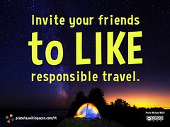Invite your friends to like responsible travel.