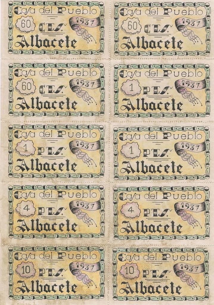 cartilla racionamiento 1937 Albacete