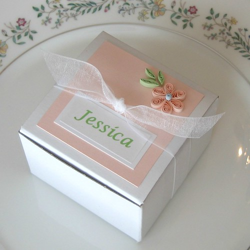 Quilled Favor Box - Detail