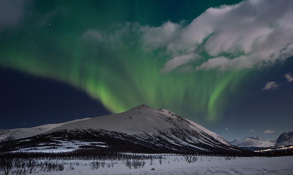 Bearbeitung von Polarlichtbildern