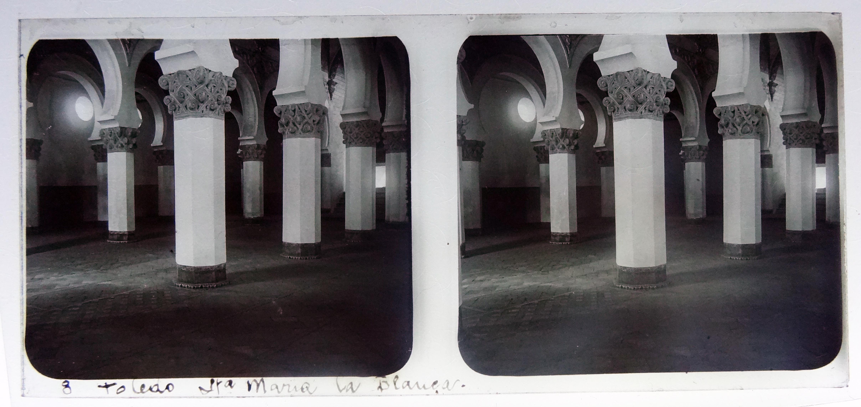 Santa María la Blanca, sinagoga. Fotografía de Francisco Rodríguez Avial hacia 1910 © Herederos de Francisco Rodríguez Avial