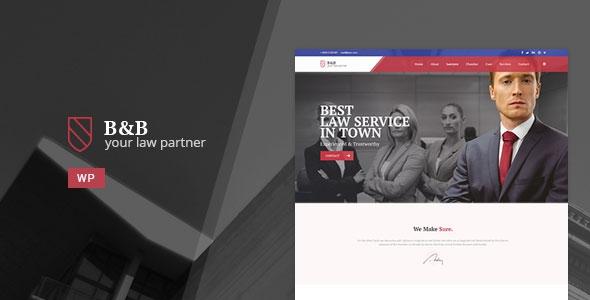 Themeforest B&B v1.0 - Law & Attorney WordPress Theme