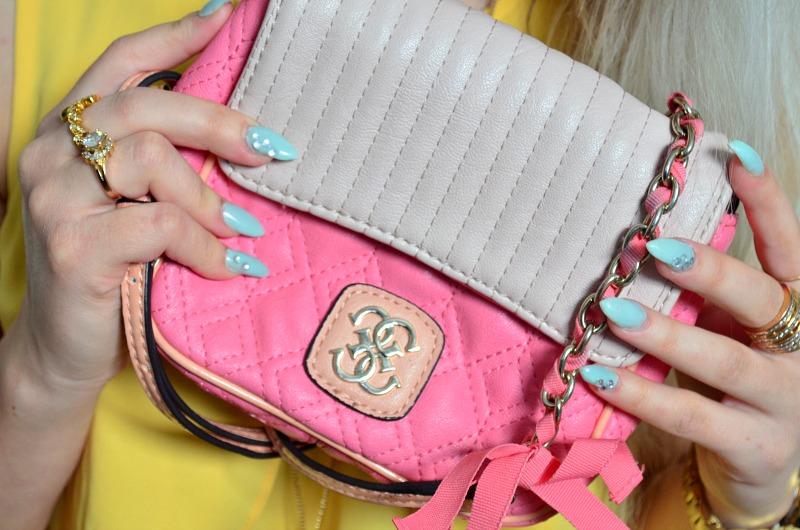 pink bag guess
