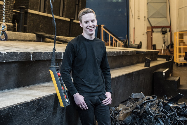 Technical Theatre apprentice, Jack Eaton