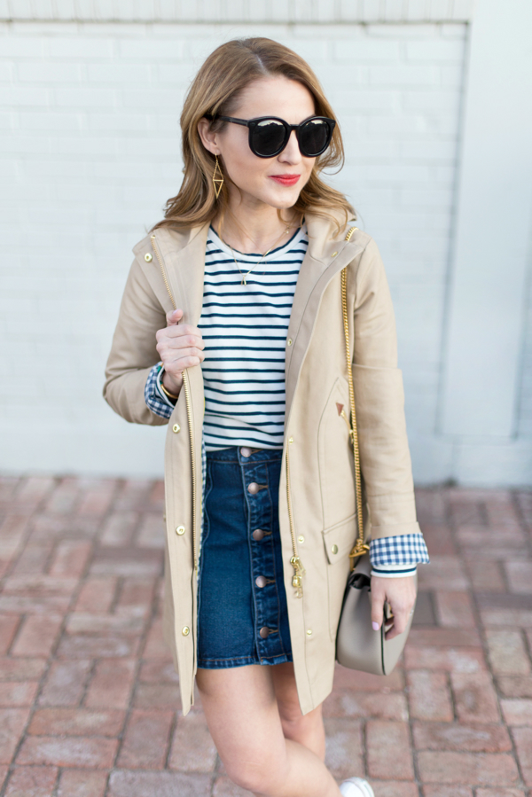 J Crew Petite Chateau Trench