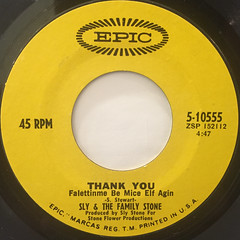 SLY & THE FAMILY STONE:THANK YOU(LABEL SIDE-A)