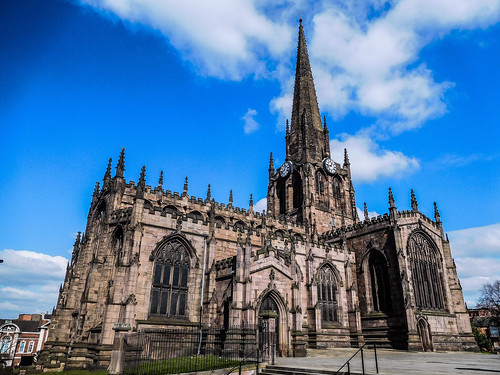 Rotherham Minster on a beautiful sunny day