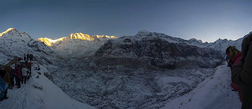 nepal sky panorama snow mountains sunrise spring cosina glacier abc himalaya annapurna 1935 cosina1935