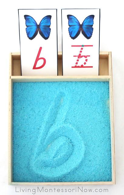 Butterfly-Themed Letter B Salt Tray