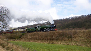 Flying Scotsman from the lineside