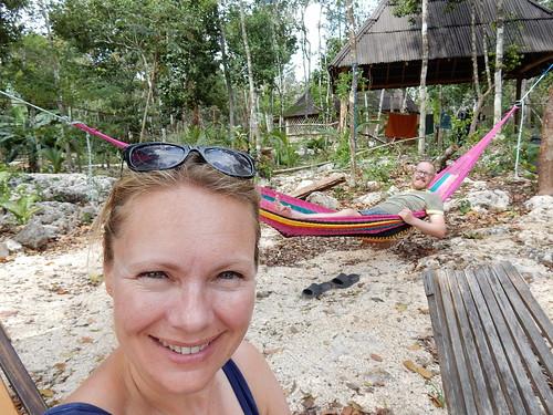 Quintana Roo NP campground - hangmat