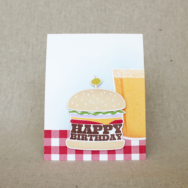 Beer & Burger Birthday Card