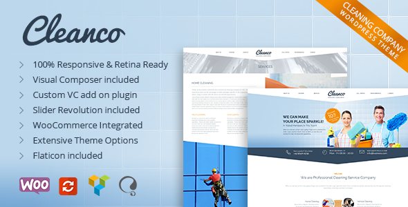 Cleanco v1.4.4 - Cleaning Company WP Theme