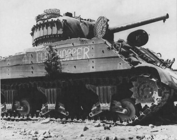American tank M4 Sherman, wrecked on Iwo Jima