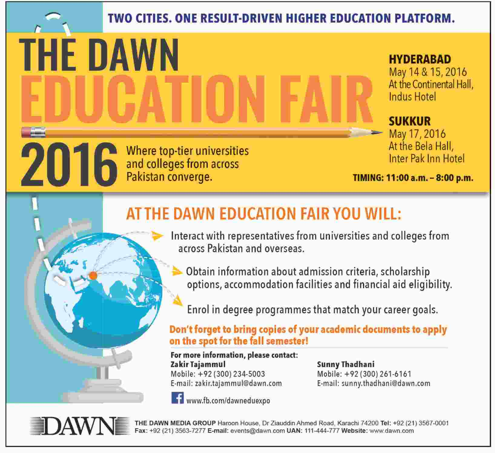 DAWN Education Fair 2016