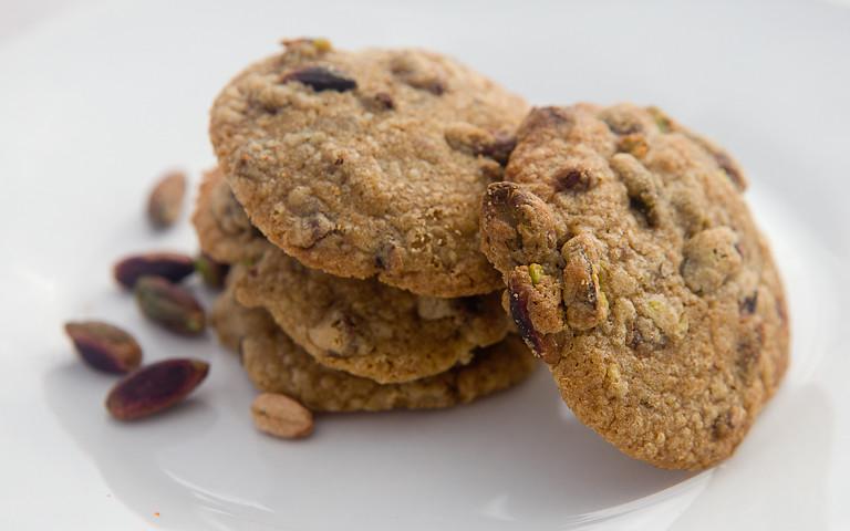 biscotti al cioccolato e pistacchio